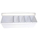 Condiment Holder (4) 1-Quart (1) 2-Quart Fruit Trays - White