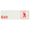 "Exit -Red on White Sign - 9""x3"""