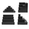MixMaster™ 4 Tier Incremental Wooden Liquor Bottle Shelf Displays - BLACK