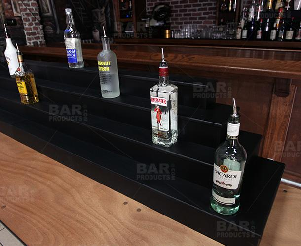 MixMaster™ 2 Tier Incremental Wooden Liquor Bottle Shelf Displays - NATURAL