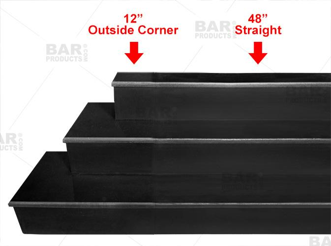MixMaster™ 2 Tier Incremental Wooden Liquor Bottle Shelf Displays - BLACK