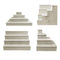 MixMaster™ 4 Tier Incremental Wooden Liquor Bottle Shelf Displays - NATURAL
