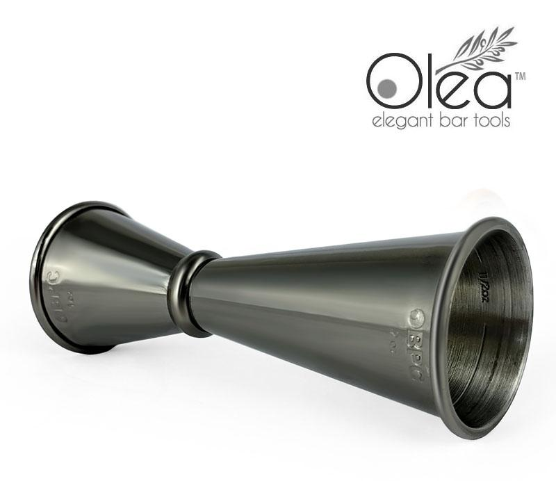 Olea™ Japanese Tall Jigger - Gunmetal Plated - 1oz X 2oz