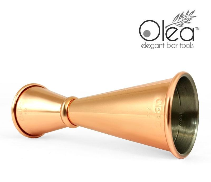 Olea™ Japanese Tall Jigger - Copper Plated - 1oz X 2oz