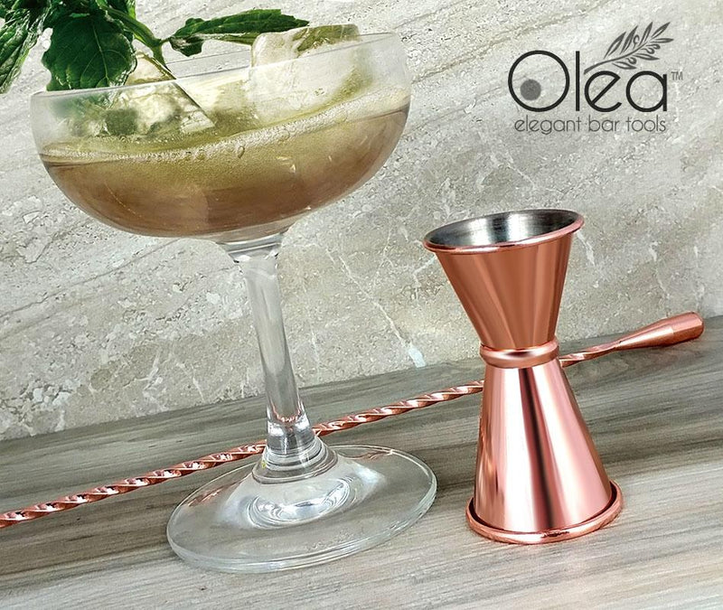 Olea™ Japanese Tall Jigger - Copper Plated - 1/2oz X 3/4oz