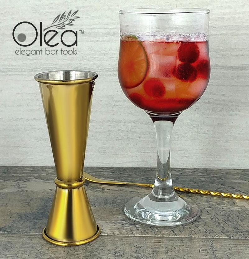 Olea™ Japanese Tall Jigger - Gold Plated - 1oz X 2oz