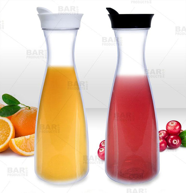 Juice Carafes - 54 ounce Jar - Black or White Lid