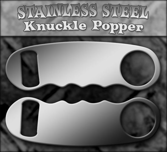 Knuckle Popper Opener - Stainless Steel