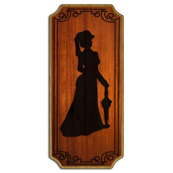 Ladies Wood Plaque Kolorcoat™ Sign
