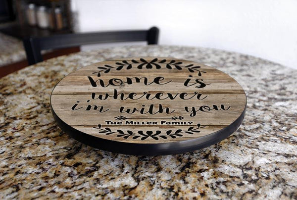 ADD YOUR NAME HOME Lazy Susan - 3 Different Sizes - Table Top