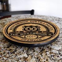 Premium Wood Lazy Susan - Customized - Size Variations