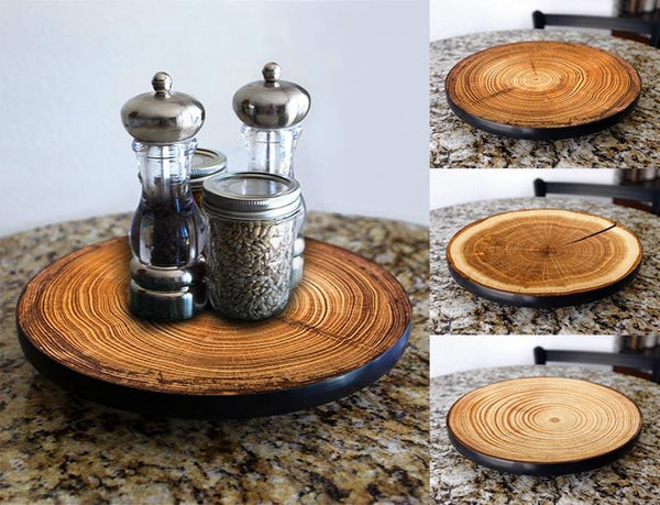 Lazy Susan - TREE RING Designs - 3 Different Sizes - For Kitchen Table Top