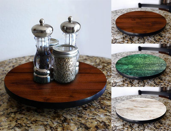 Lazy Susan - WOOD GRAIN Designs - 3 Different Sizes - For Kitchen Table Top