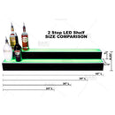 LED 2 step bottle display length comparison