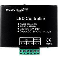 18-Key Remote LED RGB Music & Audio Controller - RF Technology