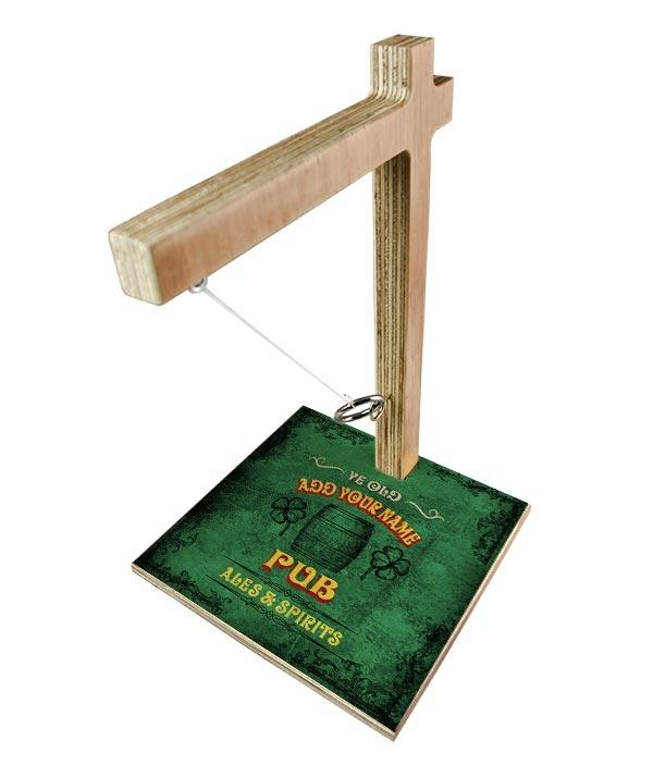 ADD YOUR NAME Tabletop Ring Toss Game - Irish