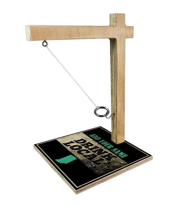 ADD YOUR NAME Tabletop Ring Toss Game - Drink Local