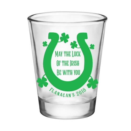 CUSTOMIZABLE - 1.75oz Clear Shot Glass - Luck of the Irish