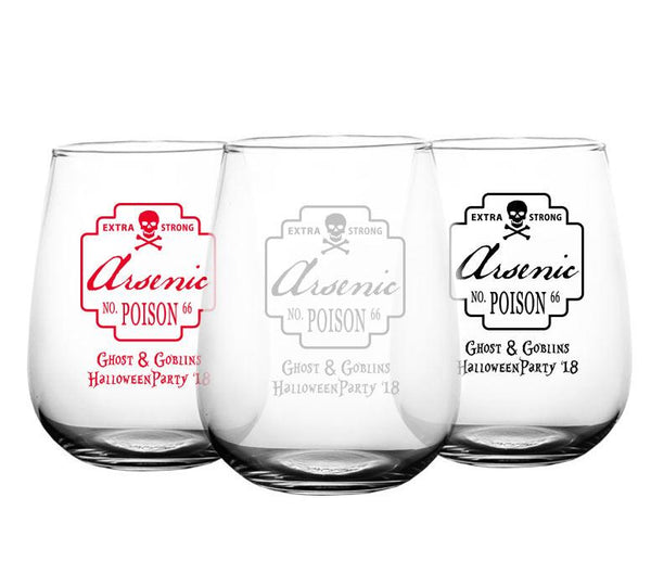 CUSTOMIZABLE - Stemless Wine Glass - 17 ounce - Poison