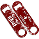 CUSTOMIZABLE Skinny Mini Bottle Opener - Amity Island Lifeguard