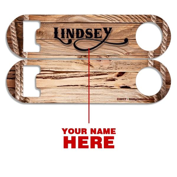 Add Your Name - Skinny Mini Bottle Opener - Drift Wood