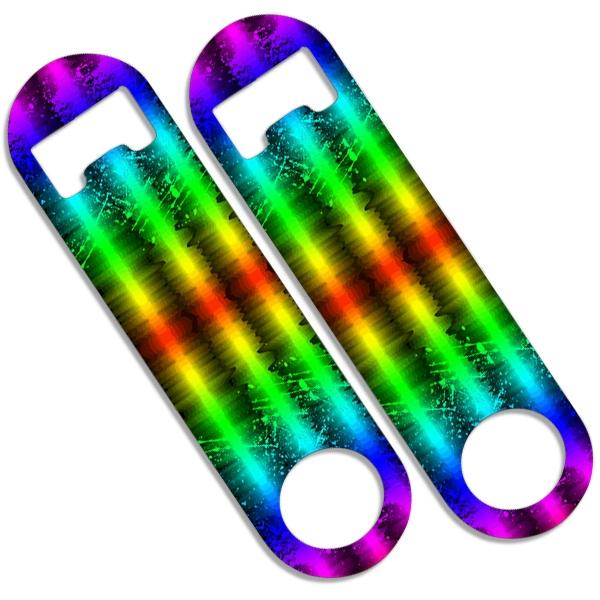 CUSTOMIZABLE Skinny Mini Bottle Opener - Grunge Rainbow