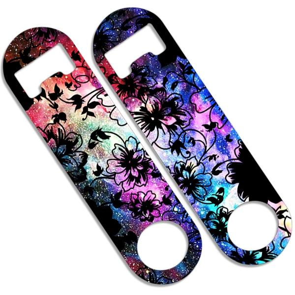 CUSTOMIZABLE Skinny Mini Bottle Opener - Space Flowers