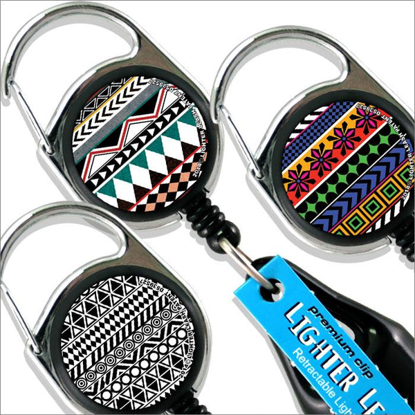 Premium Clip Lighter Leash® - 3 Pack - Aztec Series