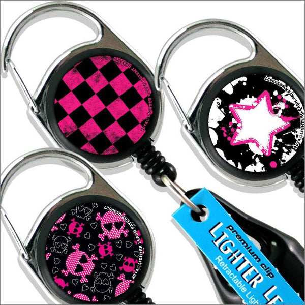 Premium Clip Lighter Leash® - Grunge Pink and Black Series
