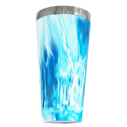 Blue/White Swirl Vinylworks MAKO - 30 oz. Cocktail Shaker Tin