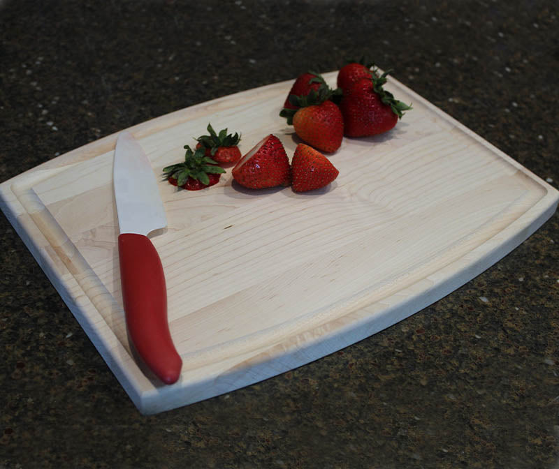 Maple Wood Cutting Board - Arched