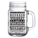 CUSTOMIZABLE - 16oz Mason Jar with Handle - Bourbon, Whisky and Moonshine