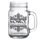 CUSTOMIZABLE - 16oz Mason Jar with Handle - Calligraphy