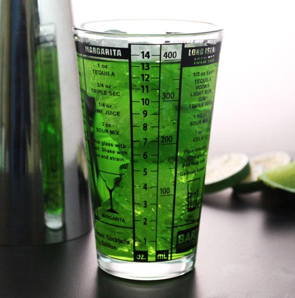 Recipe Mxing Pint Glass