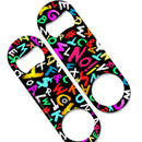 Speed Bottle Opener - Medium Sized 5 inch - Neon Alphabets