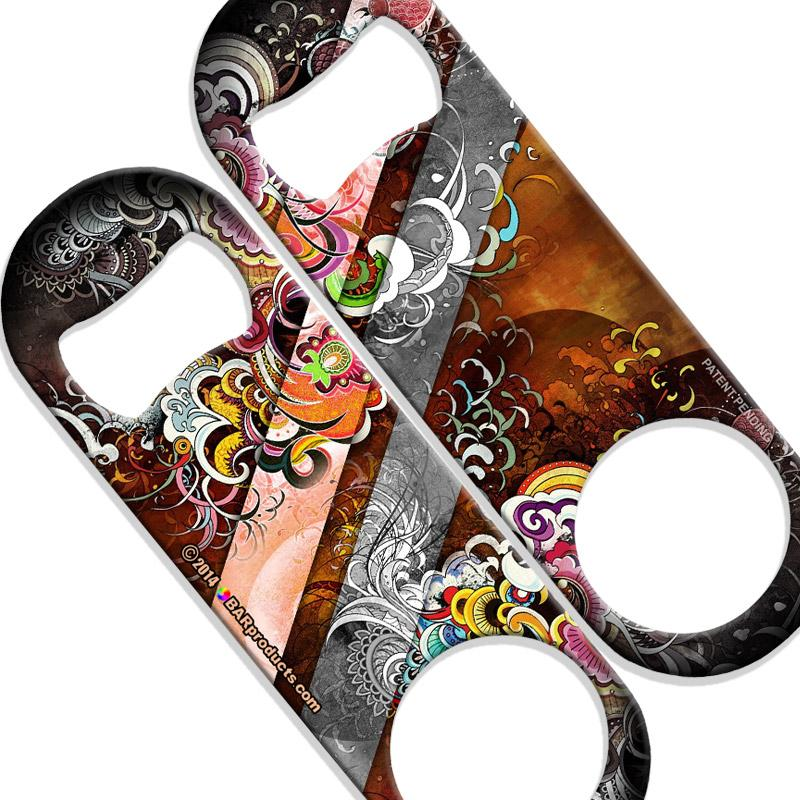 Speed Bottle Opener - Medium Sized 5 inch - Funky Floral-800