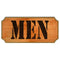 Men Wood Plaque Kolorcoat™ Sign