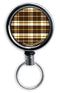 Retractable Reels for Bottle Openers – Brown Plaid