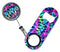 Kolorcoat® Mini Bottle Opener with Retractable Reel – Tie Dye 3