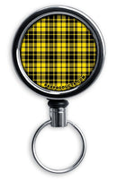 Retractable Reels for Bottle Openers – Yellow Plaid