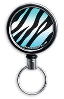 Retractable Reels for Bottle Openers – Teal Zebra