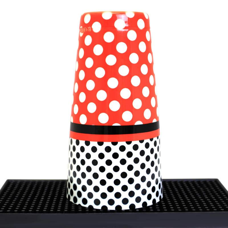 Cocktail Shaker Tin - Printed Designer Series - 28oz weighted - Minnie Mouse Polka Dots