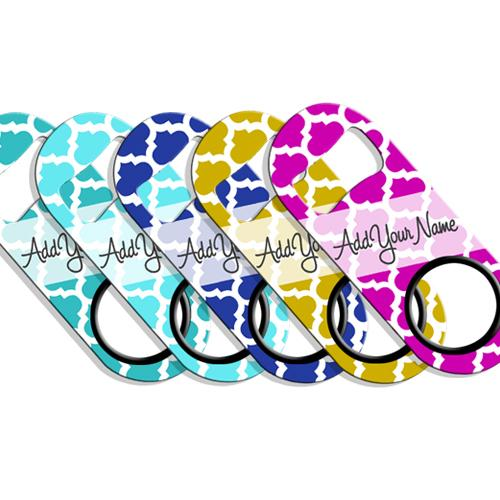 ADD YOUR NAME Mini Bottle Opener – Moroccan Patterns