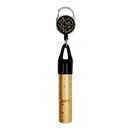 Mister Leash™ - Retractable Clip-on Atomizer for Hand Sanitizers - Golden Floral Design - Refillable