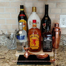 "Counter Caddies™ - NATURAL - 12"" STRAIGHT - Liquor/Wine Bottle Display"