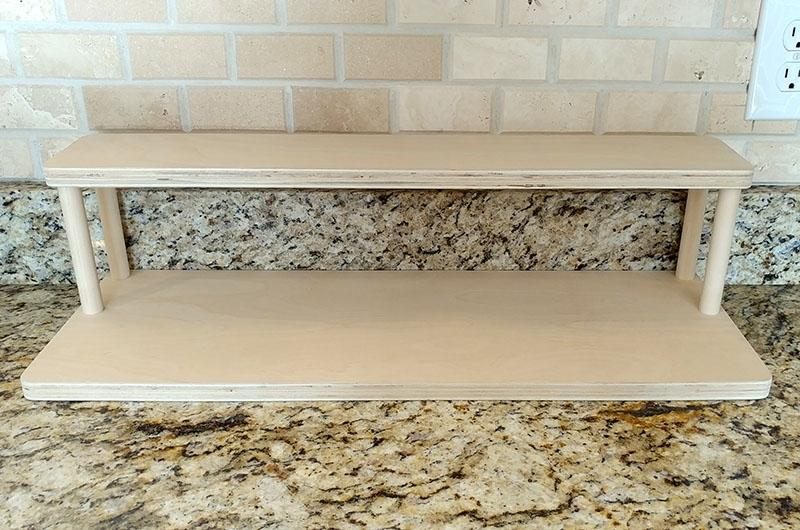"Counter Caddies™ - NATURAL - 24"" STRAIGHT Shelf - Culinary / Spice Rack"