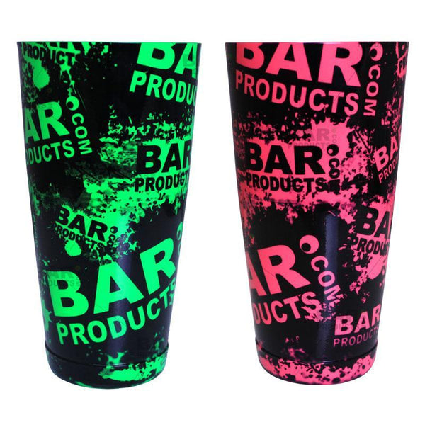 Cocktail Shaker Tin - Printed Designer Series - 28oz weighted - NEON Grungy BPC Logo