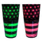 Cocktail Shaker Tin - Printed Designer Series - 28oz weighted - NEON U.S. Flag