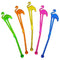 "Assorted 5.75"" Flamingo Drink Stirrers"