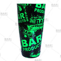 Cocktail Shaker Tin - Printed Designer Series - 28oz weighted - NEON Green Grungy BPC Logo